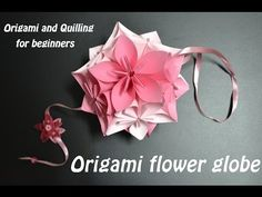 Origami Flower Ball - Wedding & Party Decorations - Kusudama - DIY Crafts Tutorials - Giulia's Art - YouTube