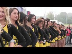 IN PARADE SUPER SEXY BEAUTIFUL GIRLS IN AMAZING SENSUAL YELLOW BODY AT V...