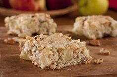 Our Nutty Apple Bars are a healthy take on all your favorite American apple classics. Pecans and vanilla extract add all the flavors you've come to know and love, minus the added fat, sugar and calories.