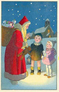 Old Christmas Post Сards — Santa Claus (513x800)