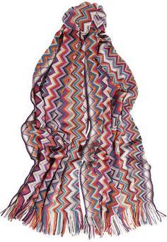 Missoni Zigzag-knit wool scarf on shopstyle.com