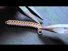 How To Make a Beautiful Chainmail Bracelet and Earrings - YouTube