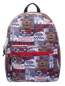 Amazing offer on Bioworld Kids Five Nights Freddy's Kids Backpack All Over Print 16 Full Size online - Yourfavoriteclothing Luggage Brands, Luggage Store, Flyer Printing, Best Deals Online, Five Nights At Freddy's, Kids Backpacks, Black Backpack, Fnaf, School Bags