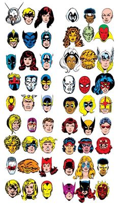 1970s Marvel headshots