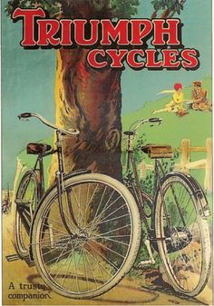Triumph Cycles cycling motivation, cycling posters, cycling, cycling quotes, classic cycling