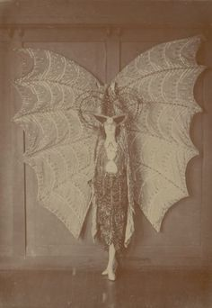 pamelalovenyc: Art Nouveau  Pixie Herbert in a bat costume circa 1923