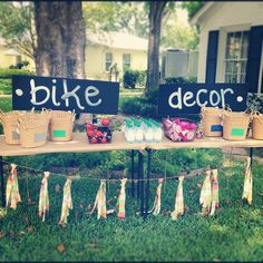 """Bicycle birthday - Click for the entire party, complete with a bicycle trimmings """"bar"""" and a bike wash"""