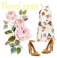 """""""Florals"""" by jennisa-penner on Polyvore featuring Topshop, Alice + Olivia, women's clothing, women, female, woman, misses and juniors"""