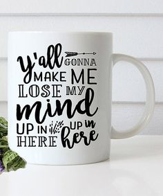Liberty & Lilac Paper Co. White Lose My Mind Mug | zulily