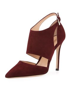 Cutout Ankle-Wrap Point-Toe Pump by Gianvito Rossi at Bergdorf Goodman.
