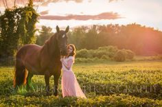 Girl and horse at sunset - Sarah Grace Photography
