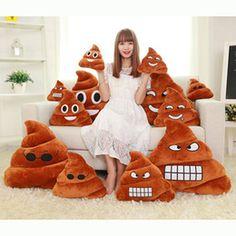 500PCS Cojín decorativo Emoji Almohada Regalo lindo Mierdas Poop de peluche de juguete muñeca regalo de Navidad divertido Plush Bolster Almohada 20x25cm