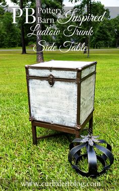 Curb Alert! : Pottery Barn Inspired Trunk Side Table