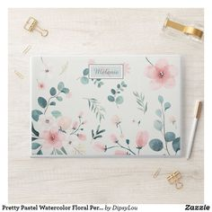 Pretty Pastel Watercolor Floral Personalised HP Laptop Skin Hp Laptop Skin, Pastel Watercolor, Pretty Pastel, Laptop Sleeves, Vibrant Colors, This Is Us, Prints, Pattern, Things To Sell