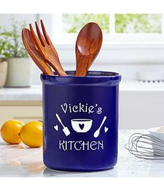 Unique Home and Kitchen Gift Ideas - personalized kitchen utensil holder