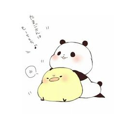 Image about love in Kawaii✌✨ by tazzy_popz on We Heart It Cute Panda Baby, Cute Panda Cartoon, Panda Funny, Panda Love, Cute Cat Drawing, Cute Animal Drawings, Kawaii Drawings, Easy Drawings, Chibi Panda