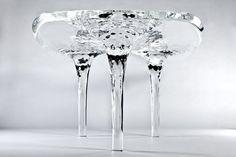 "Zaha Hadid - ""Liquid Glacial table"" (2012) Laminated acrylic resin"