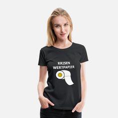 Passend zur Quarantäne und zu den Hamsterkäufen der Deutschen, zeigt dieses lustige T-Shirt das wohl wertvollste Wertpapier.  Zeige Humor in einer schweren Zeit.  Werbung #hamsterkauf #quarantäne #aktie #toilettenpapier #zuhause #lustigebilder #lustiges #covid19 #pandemie #humor #krise Turtle Gifts, Fishing Humor, Fly Fishing, Plus Size Shirts, Viscose Fabric, Skin Tight, Women Brands, Gifts For Family, Cool Shirts