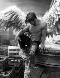 fallen angels... fallen, sad, in prayer