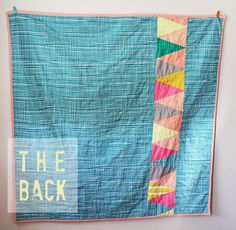 Modern approach to quilting.  A bit of nostalgia but fits with my lifestyle.