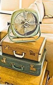 Cute nightstand idea. Vintage suitcases are easy to find cheaply at antique stores.