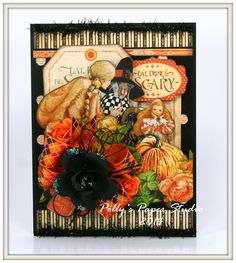 Eat Drink and Be Scary Card with Graphic 45 | Polly's Paper Studio