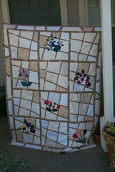Magic Tiles appliqued quilt  | Flickr - Photo Sharing!