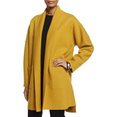 Eileen Fisher Boiled Wool Kimono Coat and other apparel, accessories and trends. Browse and shop related looks.