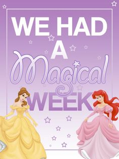 "We had a Magical Week - Belle & Ariel - Princesses - Project Life Filler Card - Scrapbooking ~~~~~~~~~ Size: 3x4"" @ 300 dpi. This card is **Personal use only - NOT for sale/resale** Clipart belongs to Disney. Fonts are Coolvetica www.dafont.com/coolvetica.font and GiddyupStd www.fontzone.net/font-details/giddyupstd  *** Click through to photobucket for a ""magical trip"" version of this card ***"