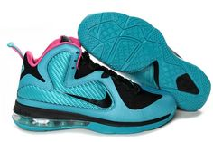 Nike Air Max LeBron James 9 Green/Red/Black Basketball shoes