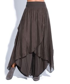 b742753f9279 Another great find on #zulily! La Fille du Couturier Chocolate Brown Skirt  Palazzo Pants