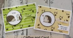 Make cards which feature cute hedgehogs, a bird and even a squirrel. Using the latest stamp set 'Hedgehugs' from Stampin' Up! which can be ordered through Jemini Crafts.