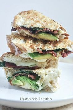 Grilled Cheese with Avocado Bacon and Spinach from Lauren Kelly Nutrition