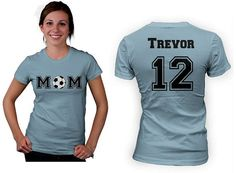 Personalized Soccer Mom women custom shirt. by Beecustominc, $24.99