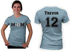 Personalized Soccer Mom women custom shirt. by Beecustominc, $24.99