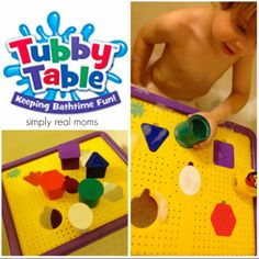 Keep the bathroom (and you!) from getting soaked every time your child takes a bath with the amazing Tubby Table.