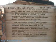 fredonia, arizona | See the context of this sign.