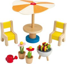 Dollhouse Furniture - Hape Happy Family Doll House Furniture Patio Set * Check out this great product.