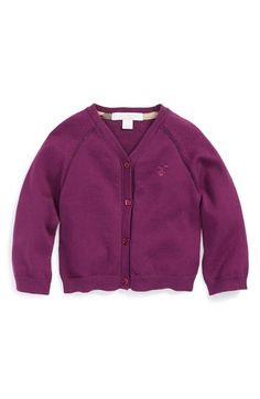 Toddler Girl's Burberry 'Mini' Cotton Cardigan