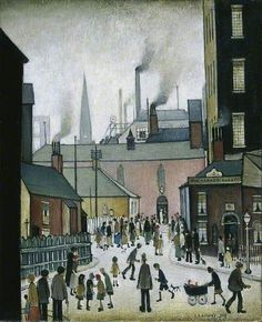 Laurence Stephen Lowry - After the Wedding Bmi, Train Art, English Artists, Thing 1, Wedding Art, Art Uk, Art For Art Sake, Urban Landscape, Your Paintings