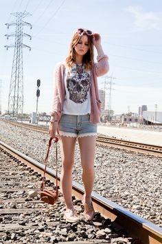 skull shirt | short shorts | sweet sweater