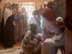 Free Bible images: When God promises Zechariah and Elizabeth a son, Zechariah has doubts and is struck dumb. Santa Maria, Free Bible Images, Lucas 1, Archangel Gabriel, Story Setting, Birth Of Jesus, John The Baptist, Gods Promises, Dumb And Dumber