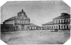 Largo da Cadeia, 1862 (atual rua Dr. João Mendes). (Militão Augusto de Azevedo)