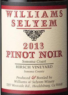 2013 Williams Selyem Pinot Noir Hirsch Vineyard