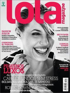 Lola Magazine #1: Angelina Jolie na capa de estreia da revista, outubro/2010