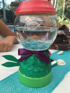 Little mermaid under the sea centerpiece