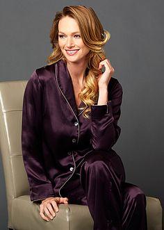 Natalya Luxury Julianna Rae Silk Ladies PJS in Voluta | Living Water Home Spa Shop