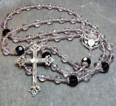 ON SALE Ultimate Rose de France cable rosary by HeartFeltRosaries