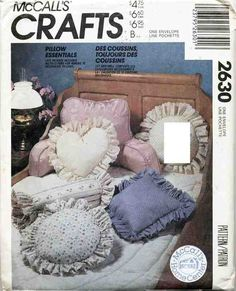 McCall's Sewing Pattern 2630 Sewing Pattern Crafts Pillow Essentials