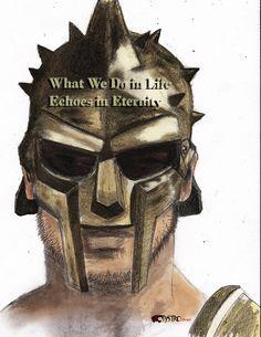 Gladiador - Lápis + acabamento digital